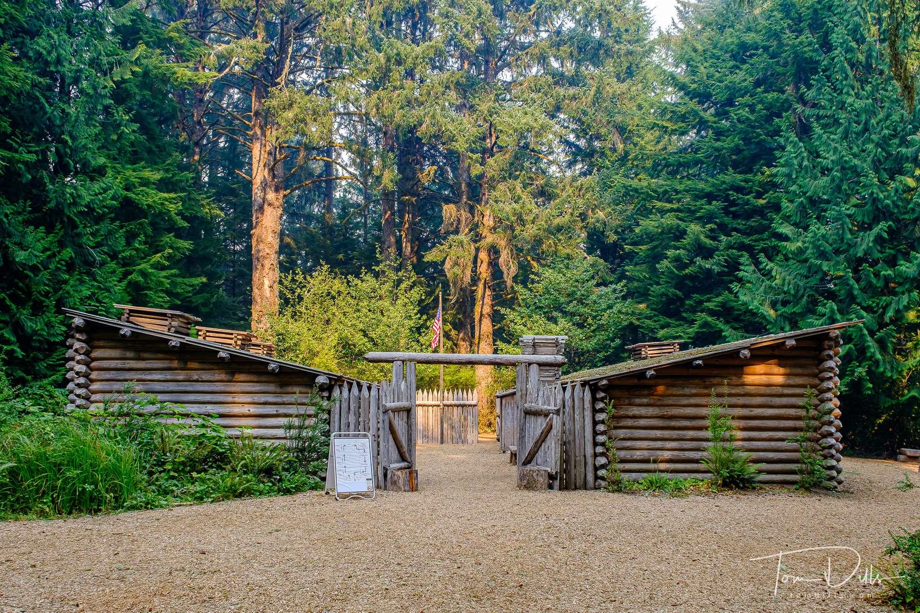 Fort Clatsop, part of Lewis & Clark National Historical Park near Astoria, Washington