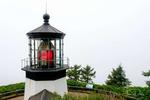 Cape Mears Lighthouse on Cape Mears, Oregon