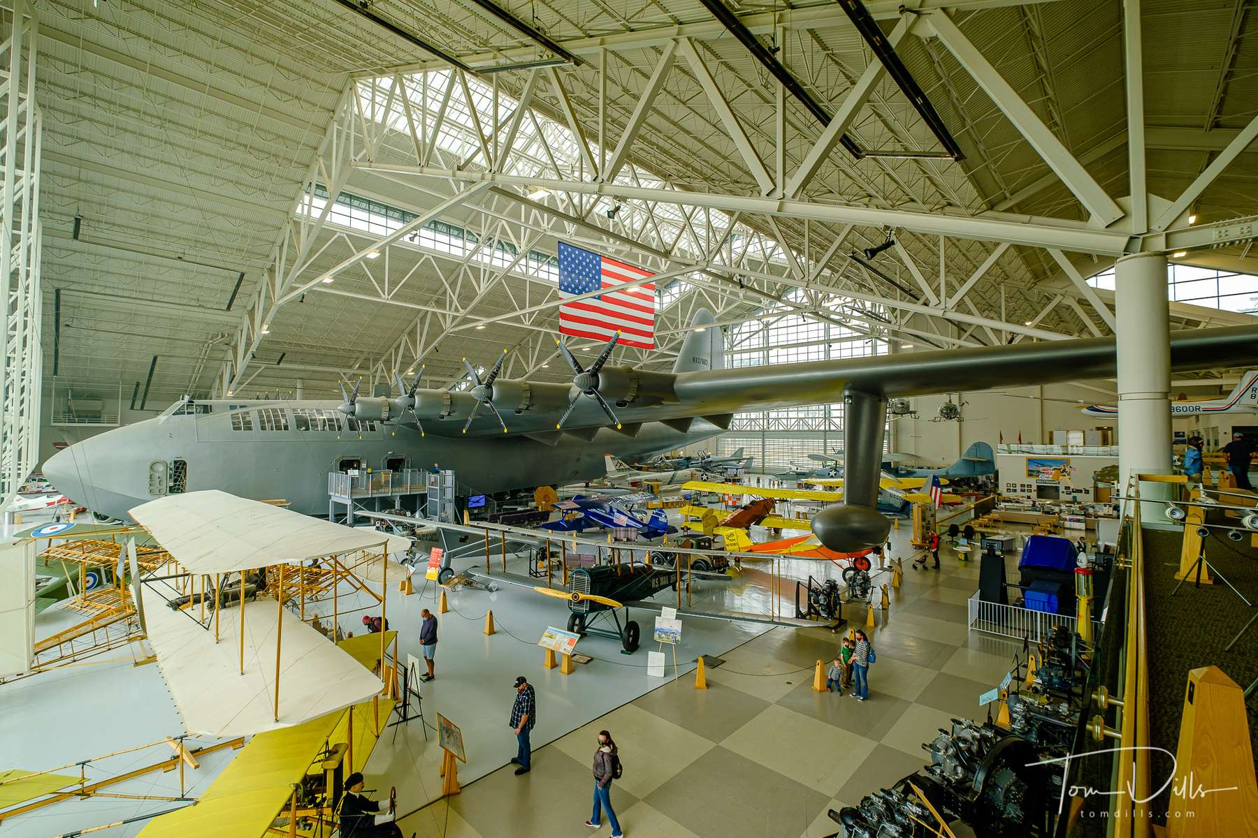 Howard Hughes' {quote}Spruce Goose{quote} at the Evergreen Aviation & Space Museum in McMinnville, Oregon