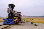 Demonstration runs of locomotives Jupiter and Number 119 at Golden Spike National Historical Park near Corinne, Utah