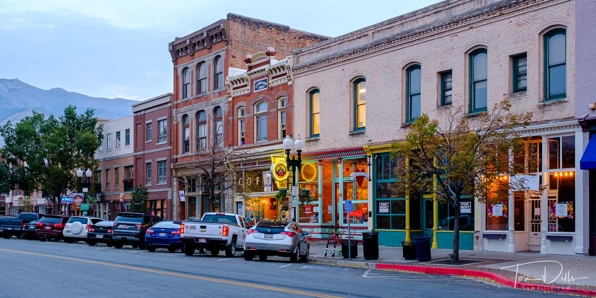 Evening in downtown Ogden, Utah