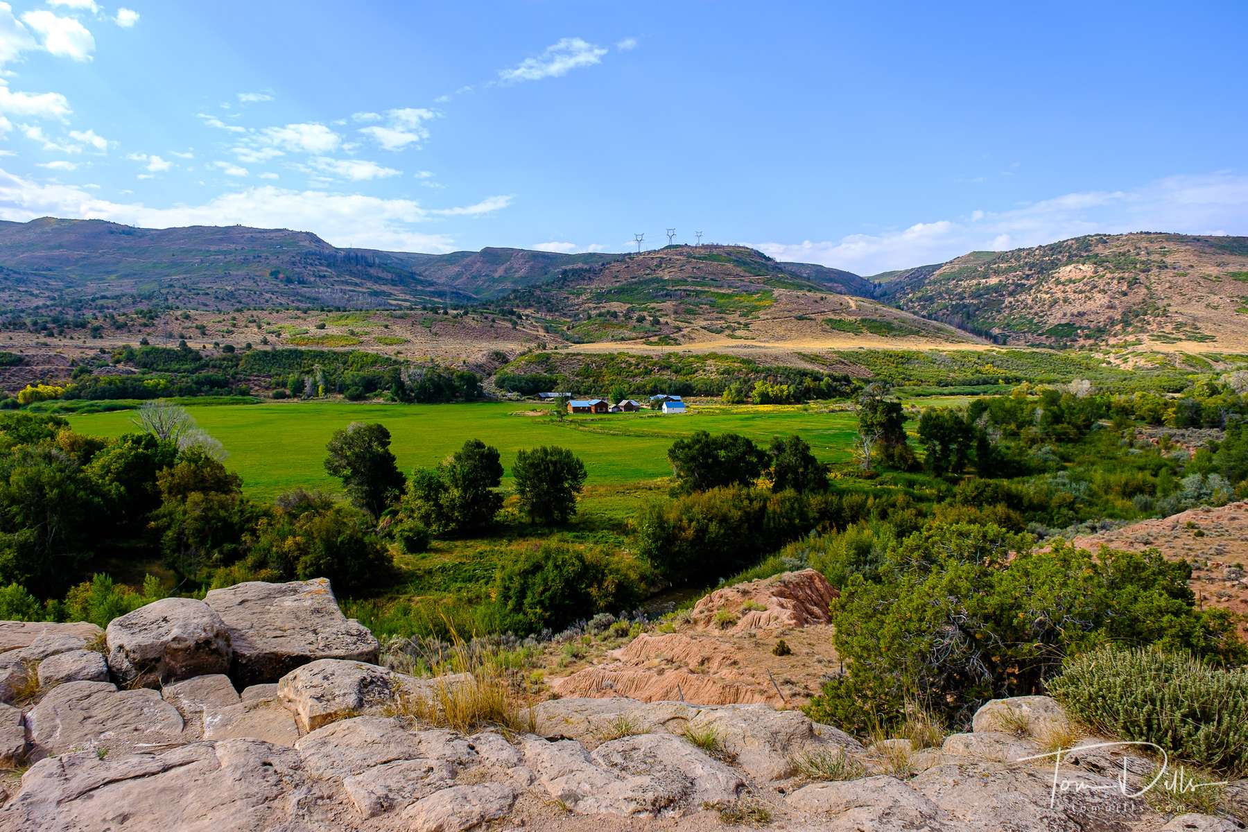 Views from a scenic overlook along US 40 near Fruitland, Utah