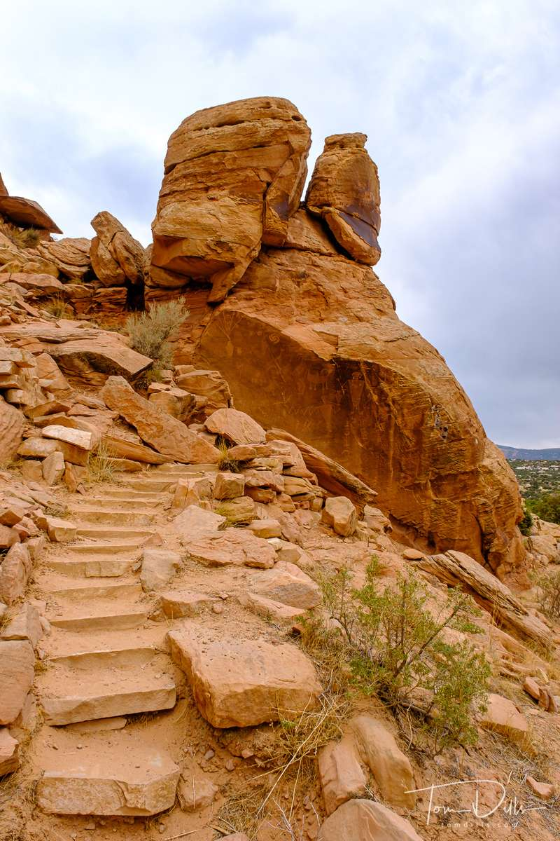 Petroglyphs at Dinosaur National Monument near Jensen, Utah