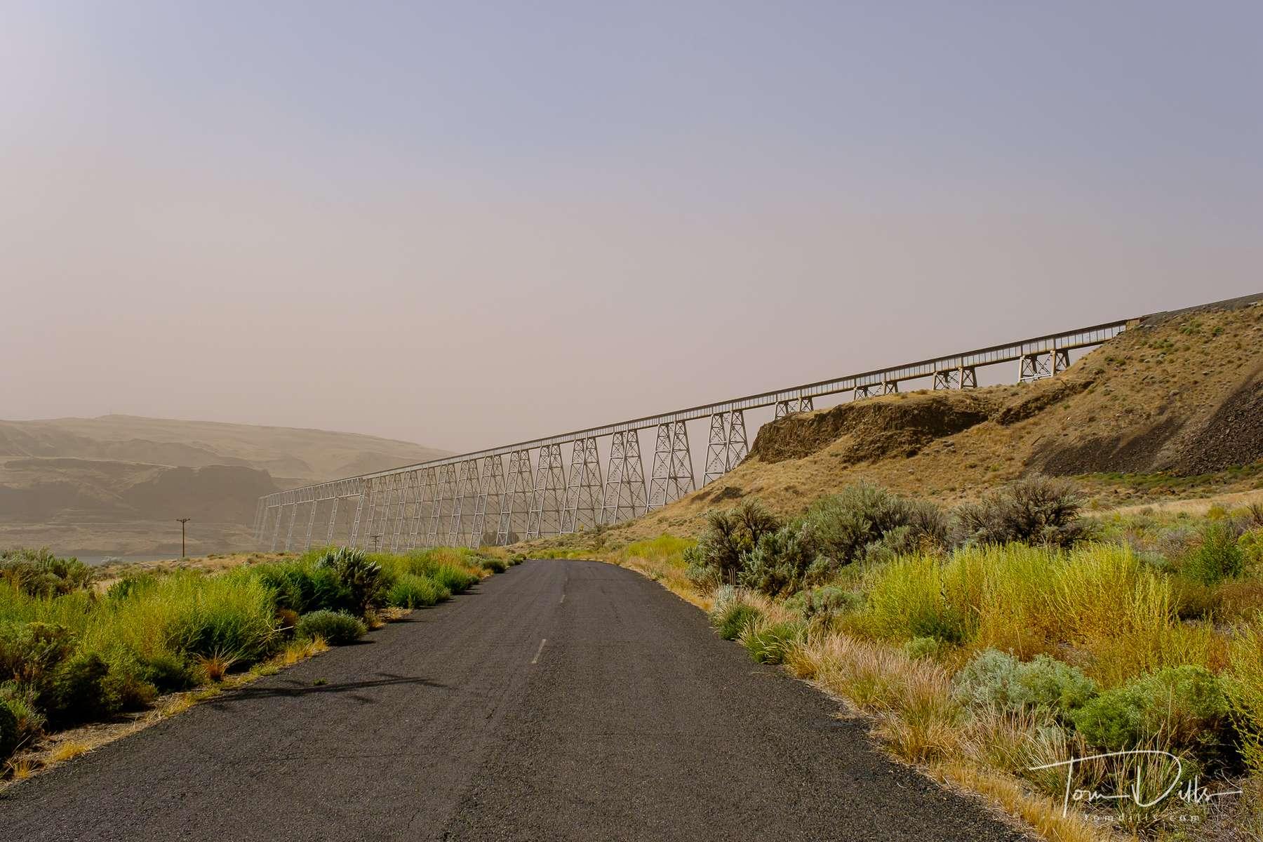 Railroad trestle across the Snake River near Perry, Washington