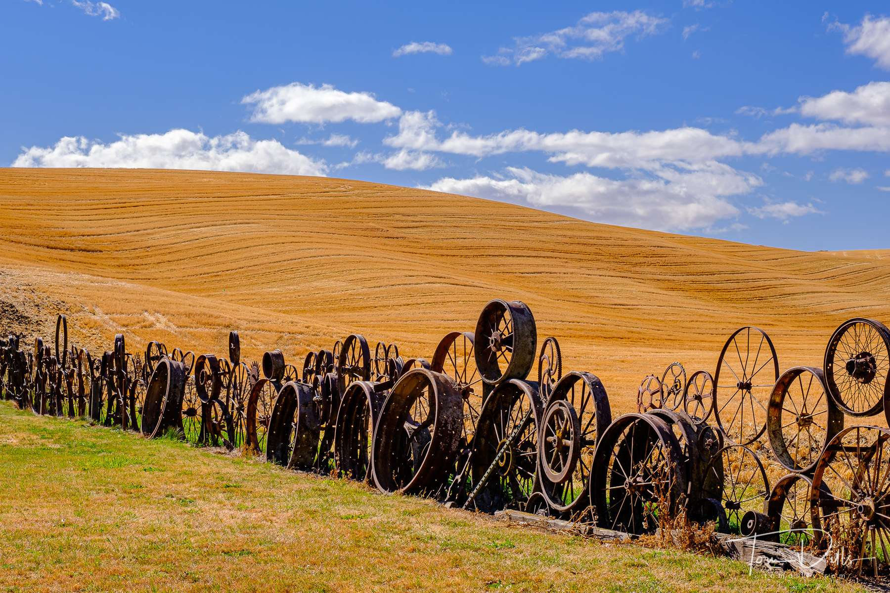{quote}Wheel Fence{quote} at the Dahmen Barn along US-195 in Uniontown, Washington