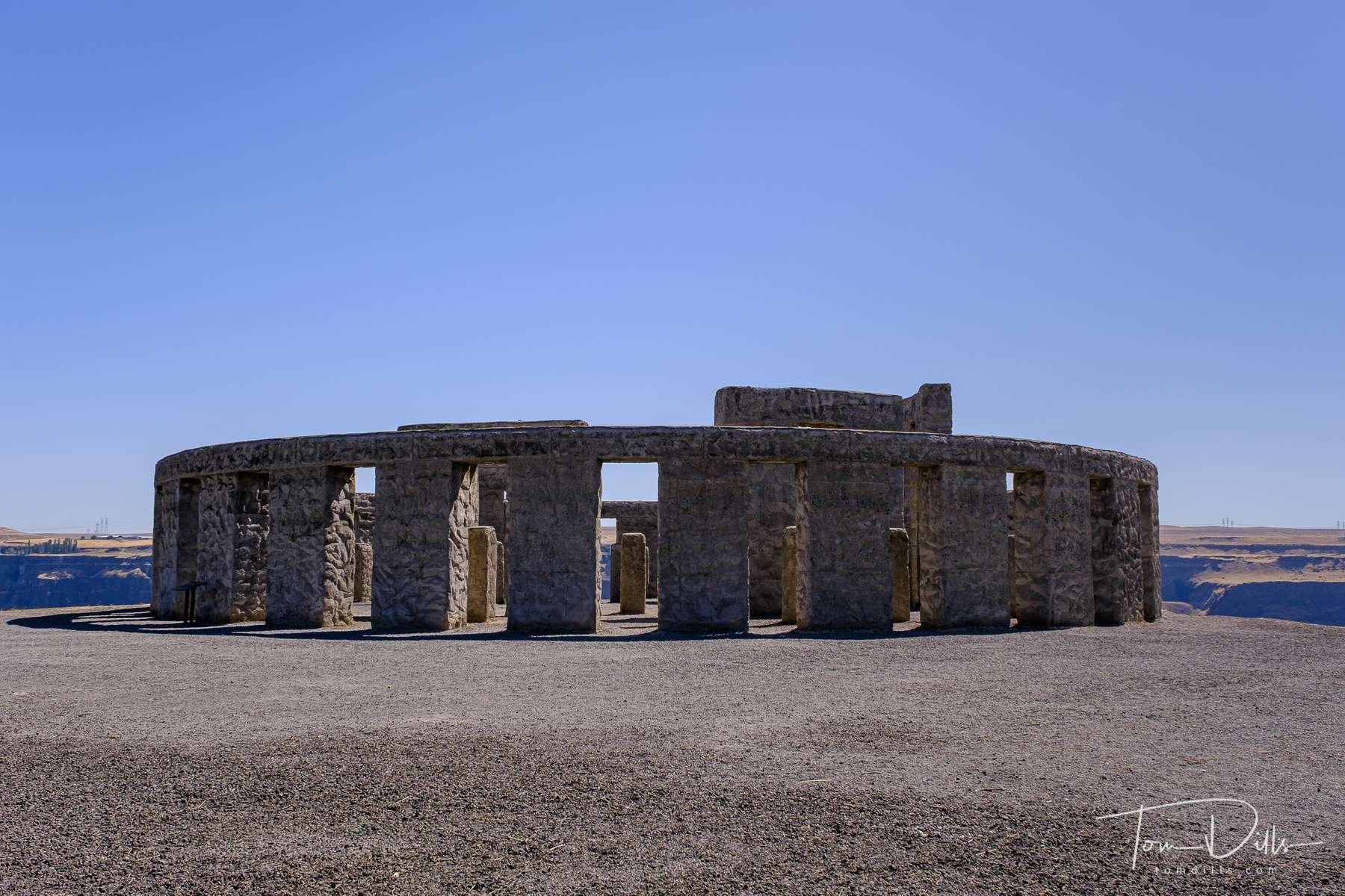 Stonehenge replica serving as a war memorial along SR-14 near Maryhill, Washington