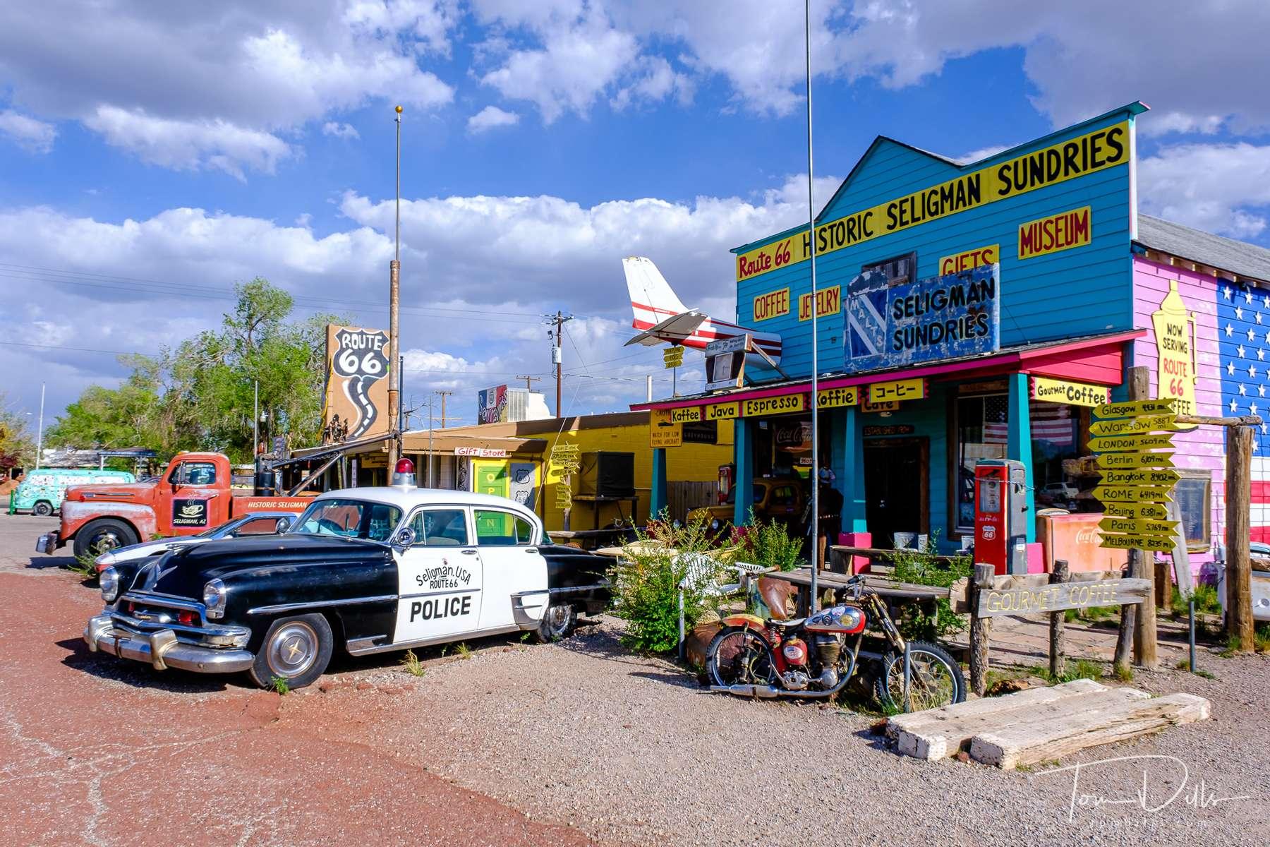 Historic Route 66 in Seligman, Arizona