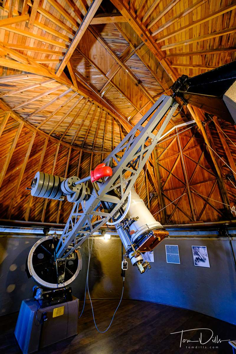 The Lawrence Lowell Telescope, which was used to discover the planet Pluto at the Lowell Observatory in Flagstaff, Arizona