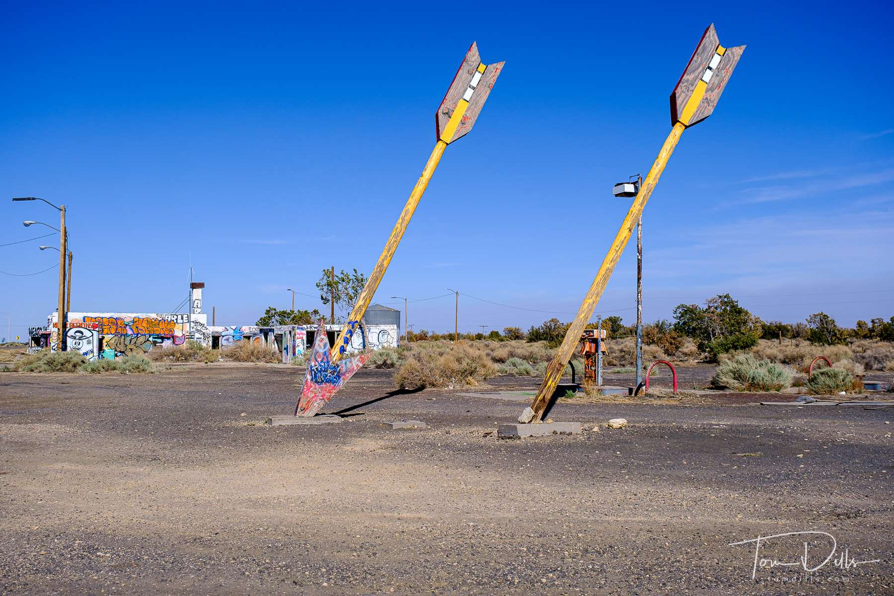 Twin Arrows, an abandoned roadside trading post located along I-40 in Arizona between Flagstaff and Winslow