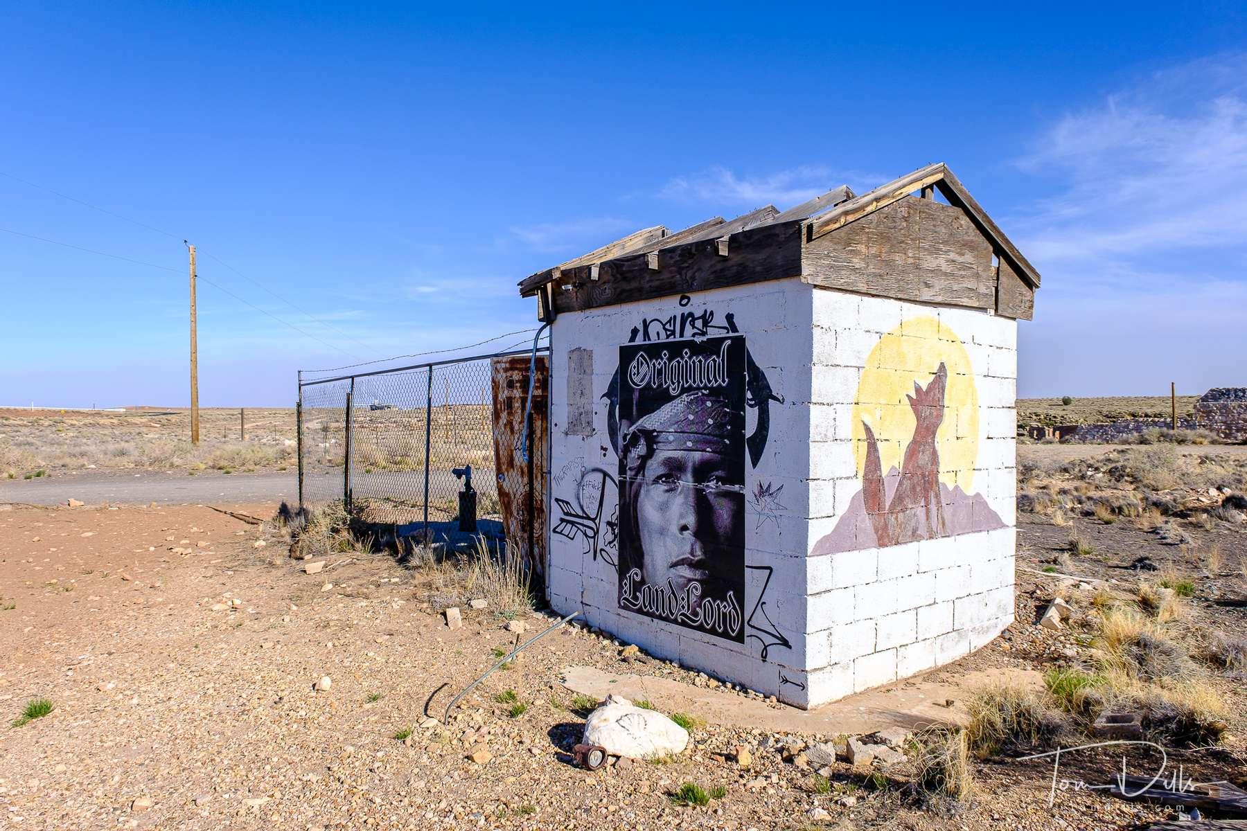 Twin Guns, an abandoned settlement along I-40 between Flagstaff and Winslow, Arizona