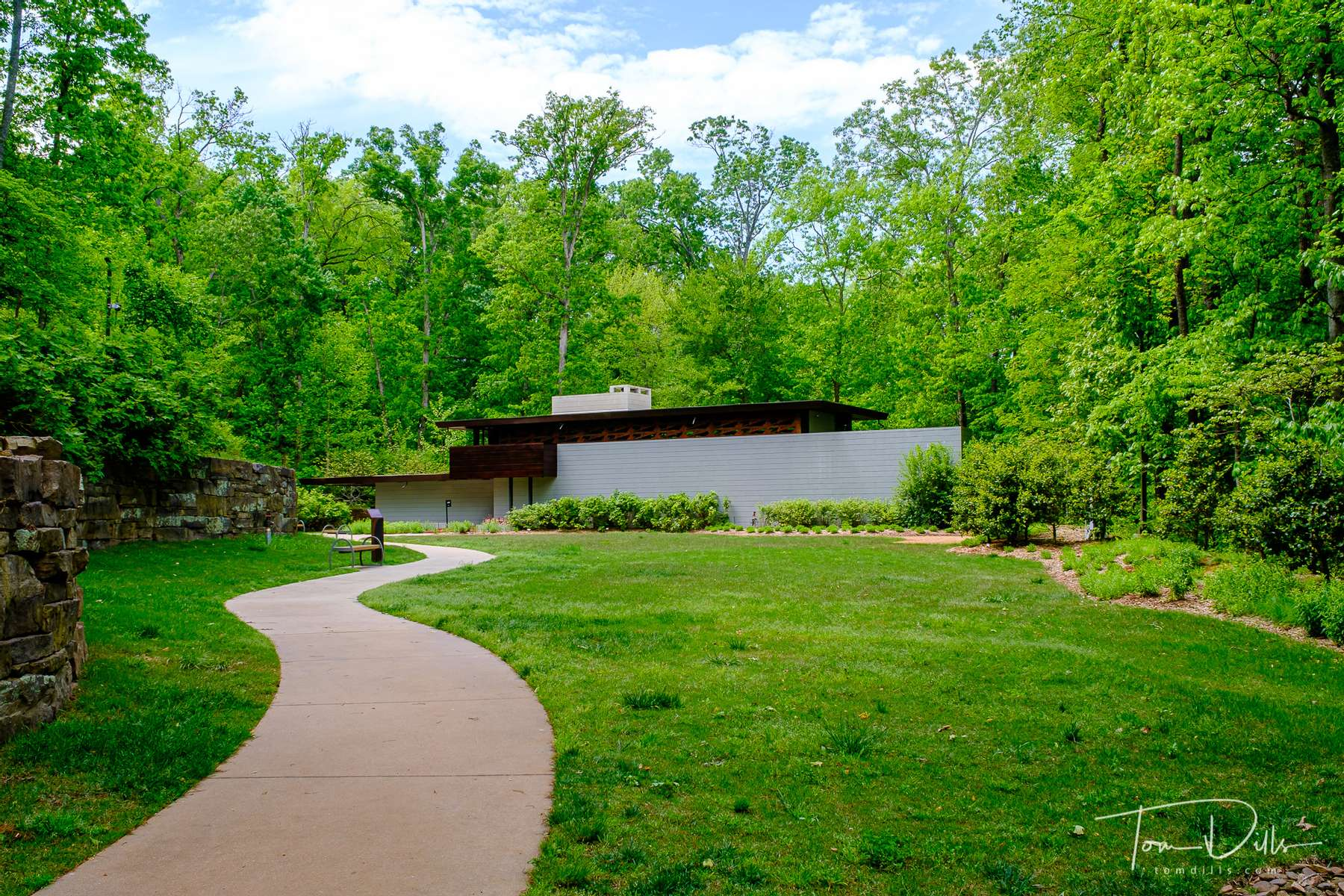 Frank Lloyd Wright's Bachman-Wilson House at The Crystal Bridges Museum of American Art in Bentonville, Arkansas