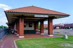 Train station in downtown Russellville, Arkansas