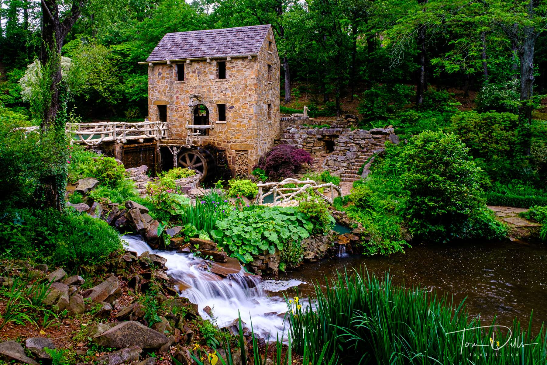 A historic re-creation of an 1880's water-powered grist mill. It is in the opening scenes of the classic movie {quote}Gone With The Wind.{quote} It features sculptures by Senor Dionicio Rodriguez and is listed on the National Register of Historic Places