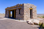 Restored visitor center building in The Painted Desert, part of Petrified Forest National Park in Arizona