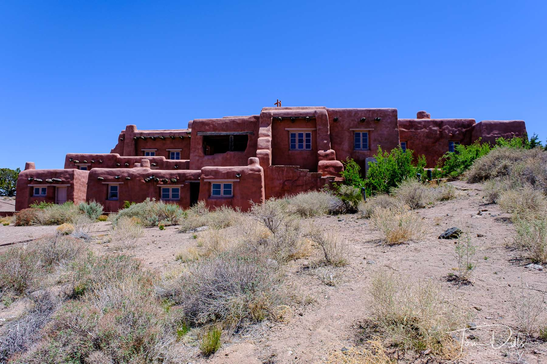 The Painted Desert Inn, now used as a visitor center for the Painted Desert, part of Petrified Forest National Park in Arizona