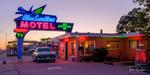 The Blue Swallow Motel on Historic Route 66 in Tucumcari, New Mexico