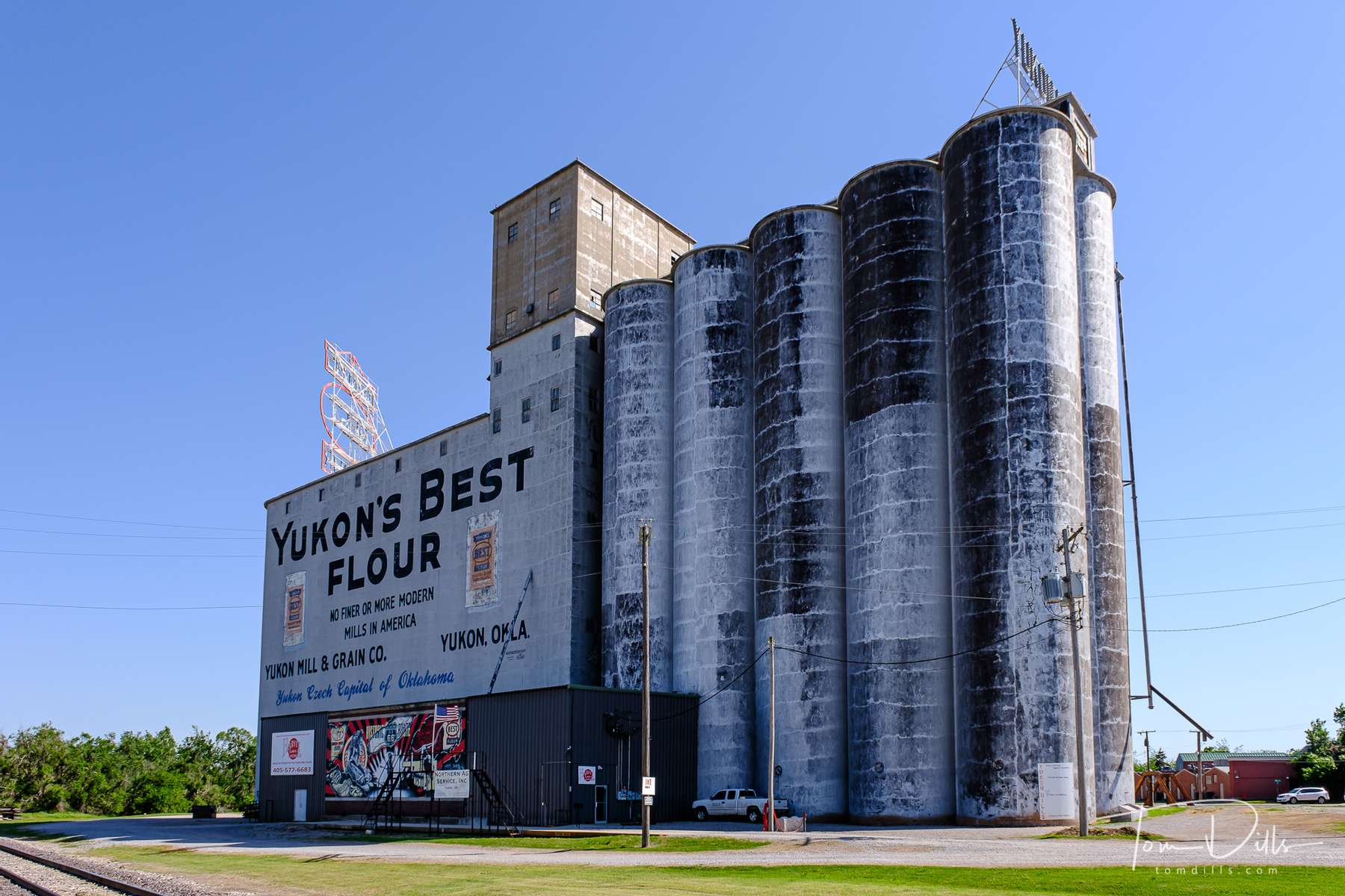 {quote}Yukon's Best Flour{quote} mill located on Historic Route 66 in Yukon, Oklahoma