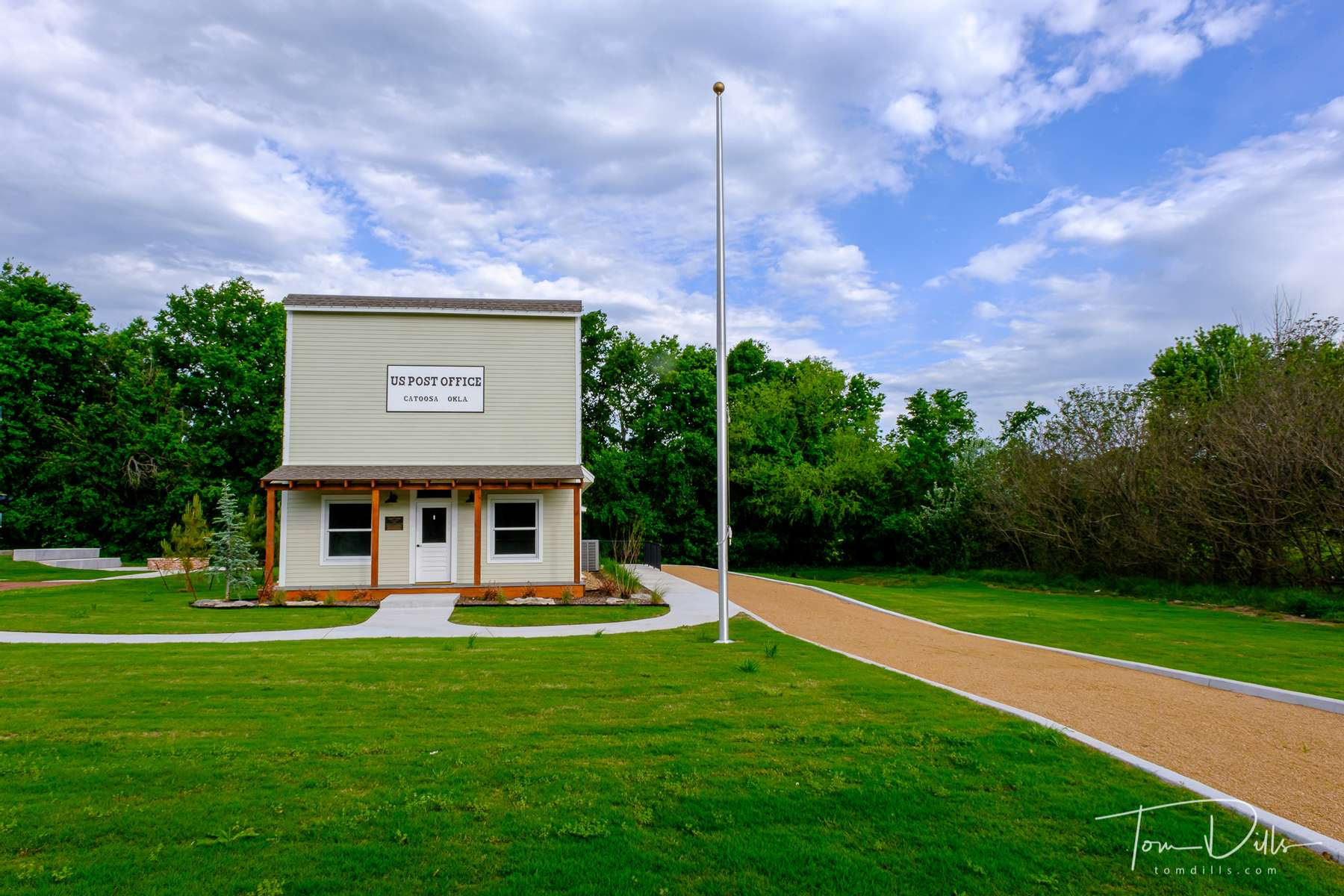 Train station and post office in Catoosa, Oklahoma