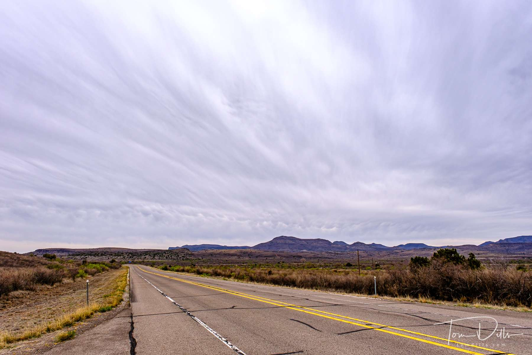 Scenery and interesting clouds along SR-118 near Alpine, Texas
