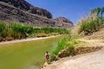 The Rio Grande River near Santa Elena Canyon, Big Bend National Park in Texas