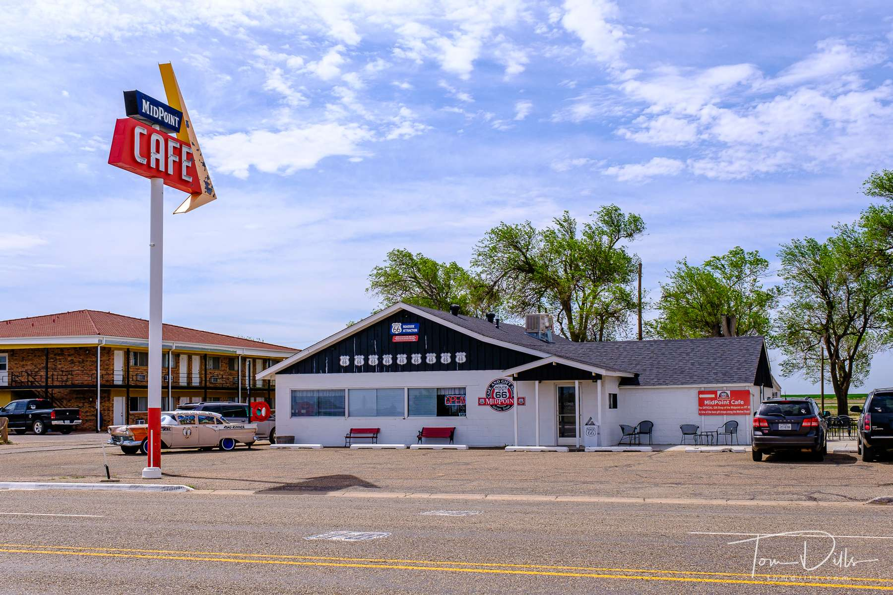 The Midpoint Cafe, halfway point on Route 66, near Adrian, Texas