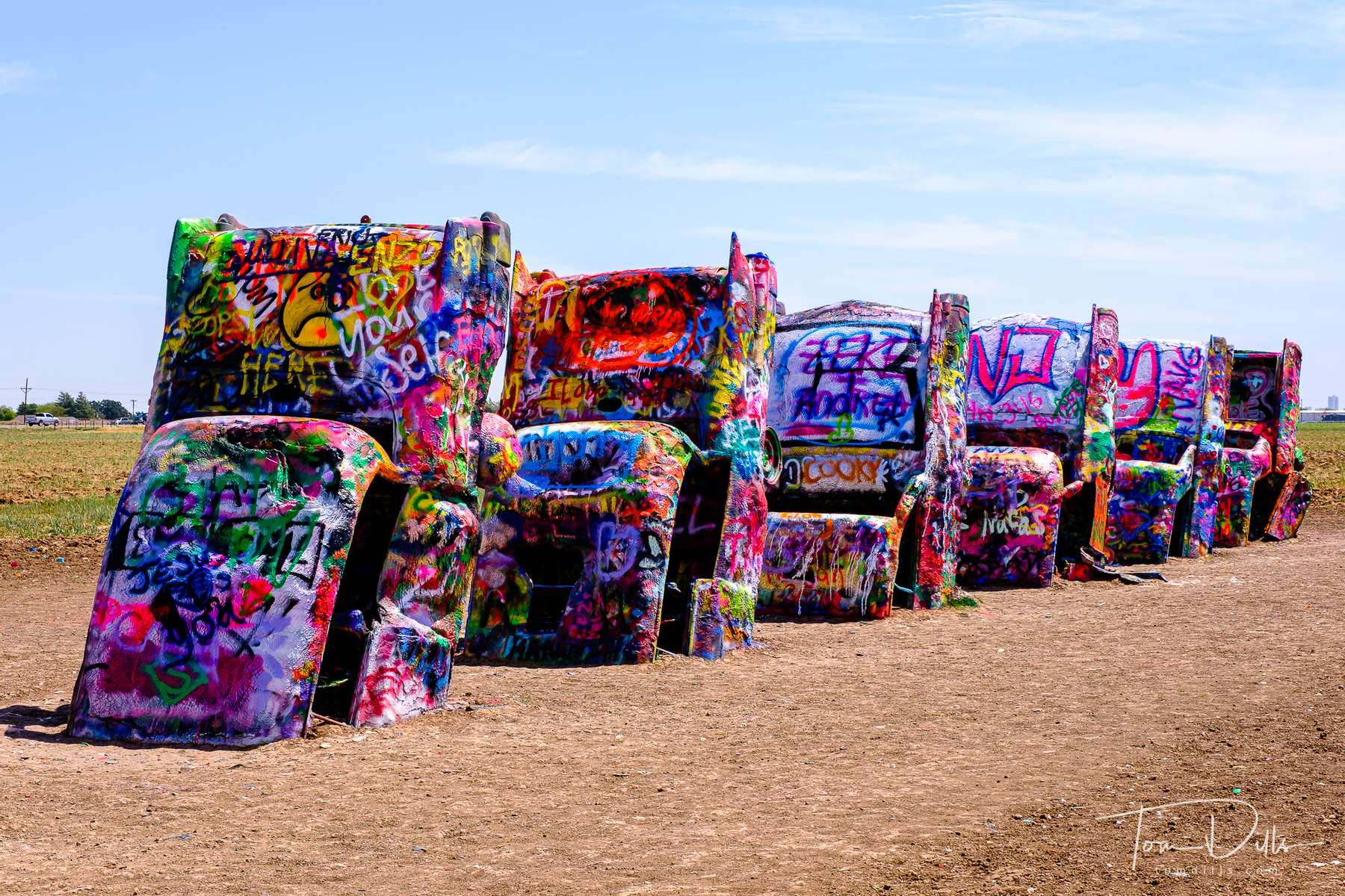 The {quote}Cadillac Ranch{quote} near Amarillo, Texas on Historic Route 66