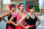 Performers from El Alma de la Luna of Spain at the Folkmoot {quote}Parade of Nations{quote} in Waynesville, North Carolina