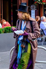 Street performers at the Fringe Festival in Edinburgh