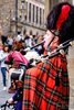 Bagpiper on The Royal Mile in Edinburgh