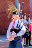 Montreat Scottish Pipes & Drums perform at the Church Street Arts & Crafts Show in Waynesville, North Carolina