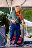 Eddie Rose and Highway 40 perform at the Church Street Craft Festival in Waynesville, North Carolina