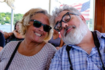 Jeff Curto and Mary Pat Larue during our cruise on Lake Geneva, Wisconsin