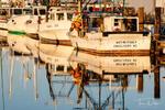 Boat Reflections on Far Creek, Englehard, North Carolina
