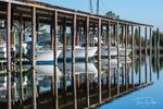 Boat Reflections near Swan Quarter, North Carolina