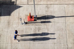 People shadows on the pier in Road Town, Tortola, BVI