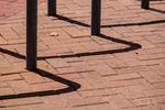 Bike rack shadows in Virginia Beach, Virginia