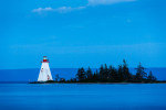 kidston island lighthouse, bras d'or lake, baddeck, nova scotia