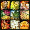 selected food and wine-related images printed as a 3x3 grid on 39x39{quote} canvas for a home in charlotte