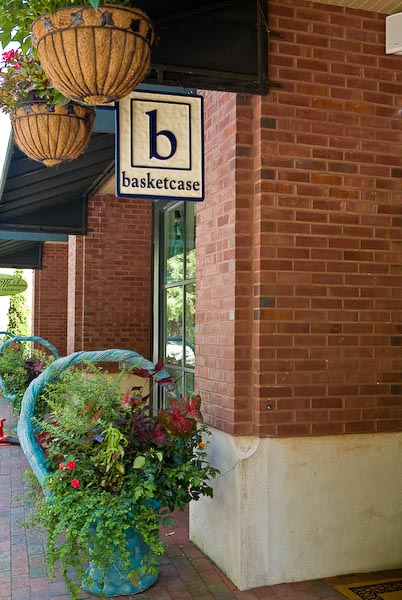 Basketcase, a shop for custom gift baskets, candles, chocolates, spa and stationery