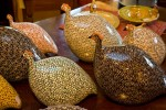 Guinea Hens on display at de Provence et d'ailleurs, a French Gift Boutique on Morris Street