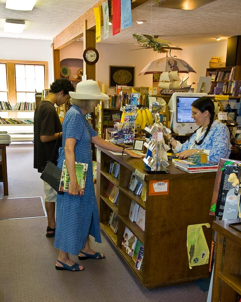 Nan Watkins, a local author, is a regular customer at City Lights Book Store in downtown Sylva NC