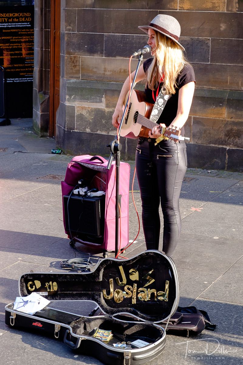 Street performers at the Fringe Festival in Edinburgh