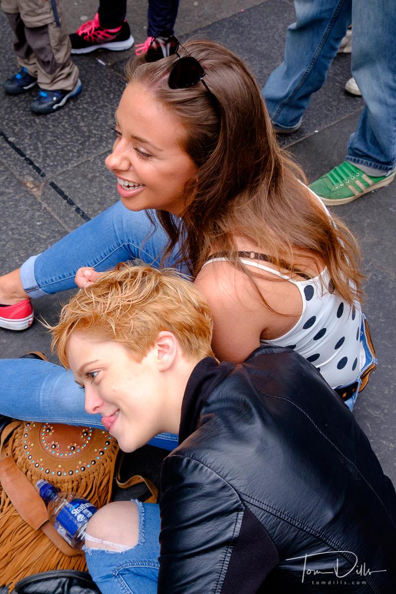 Spectators enjoying Guitarist {quote}Adam Kadabara{quote} performing during the Fringe Festival in Edinburgh