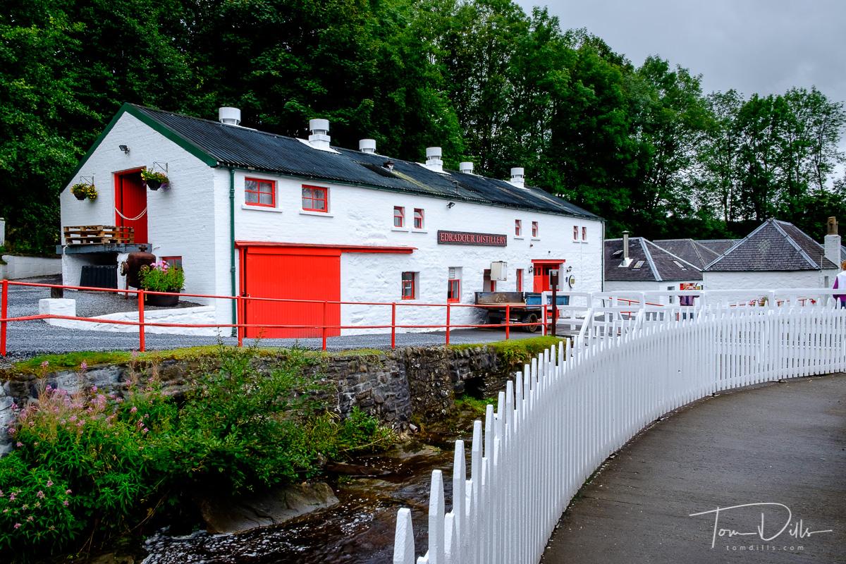 Edradour Distillery in Pitlochry, Scotland