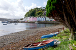 View of Portree and the Loch Portree waterfront