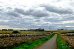 Road on the Dornock Firth near Wilkhaven, Scotland