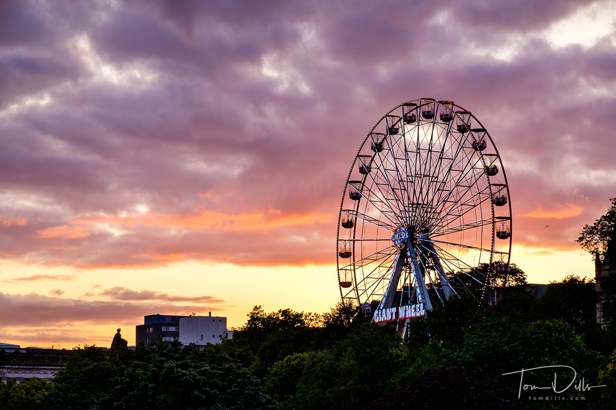 {quote}Giant Wheel{quote} ferris wheel along Princes Street in Edinburgh