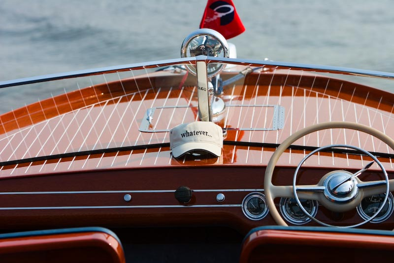Antique boat show on Lake Norman, North Carolina