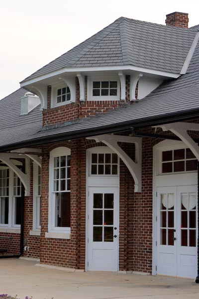 Train station in Newton, North Carolina.  Restored and now used as a community center.