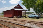 Train station in Hampton, South Carolina.  Currently used for storage.